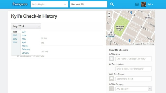 check-in-history-foursquare